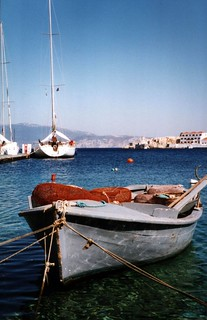 Boat in Halki harbour