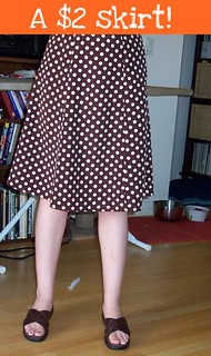 Brown polkadot skirt