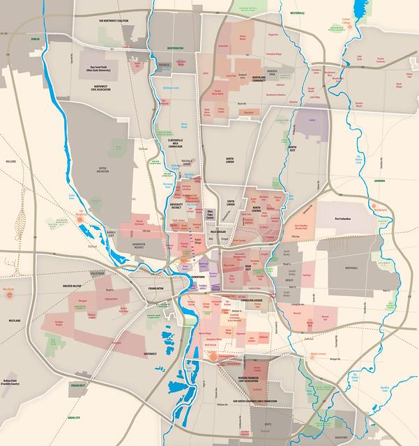 Columbus Ohio Neighborhoods Map  Flickr  Photo Sharing