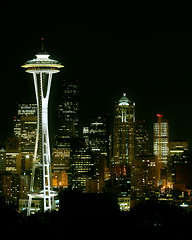 seattle - space needle at night