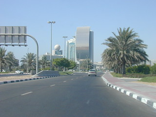 Approaching Dubai by Road from Abu Dhabi