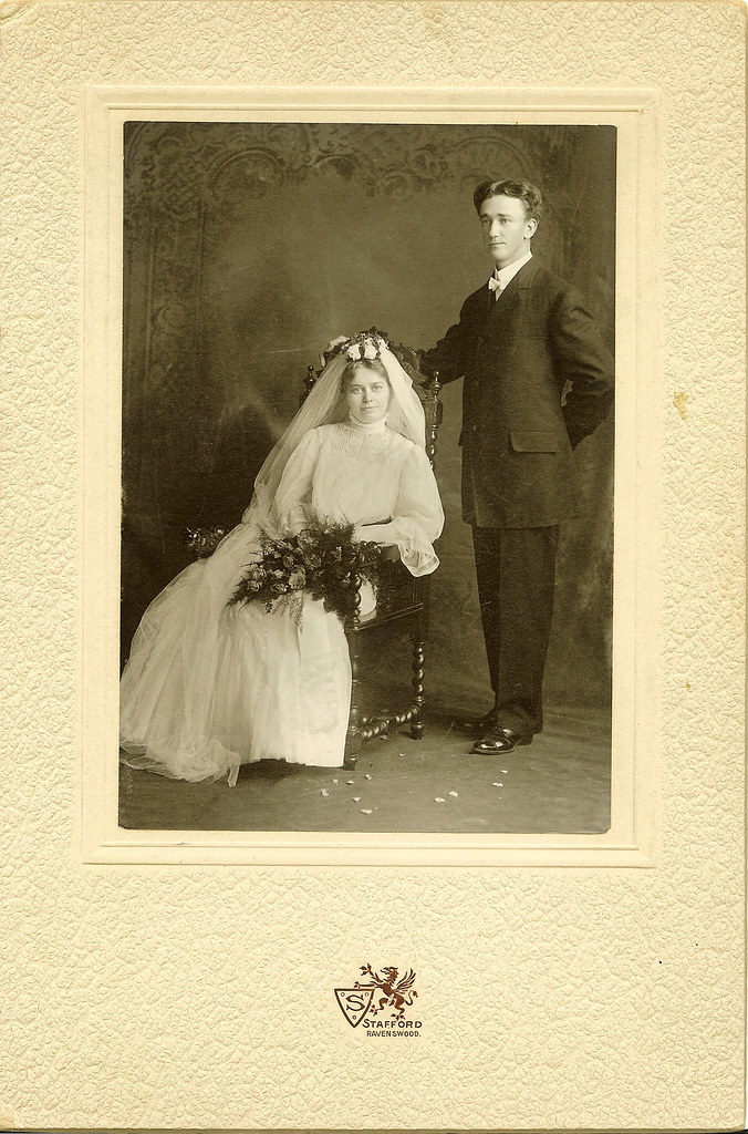 My Great Great Grandparents Wedding Picture - September 15, 1906