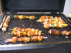 meal, outdoor grill, roasting, grilling, barbecue, brochette, churrasco food, food, dish, cuisine, barbecue grill, cooking, skewer, grilled food,