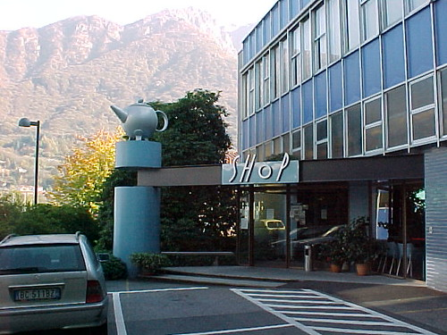 the establishing shot alessi factory crusinallo italy
