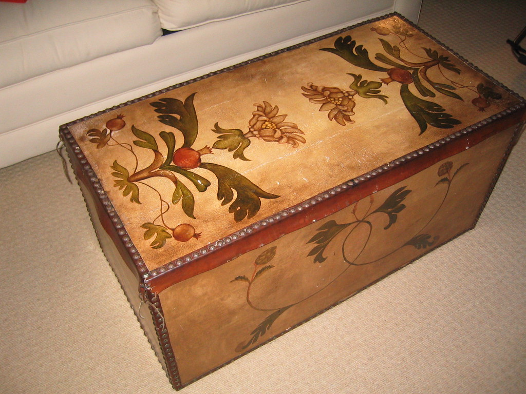 SOLD Handpainted chest/coffee table--$100