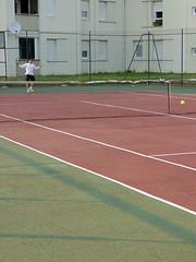 sport venue, tennis court, tennis, sports, net,