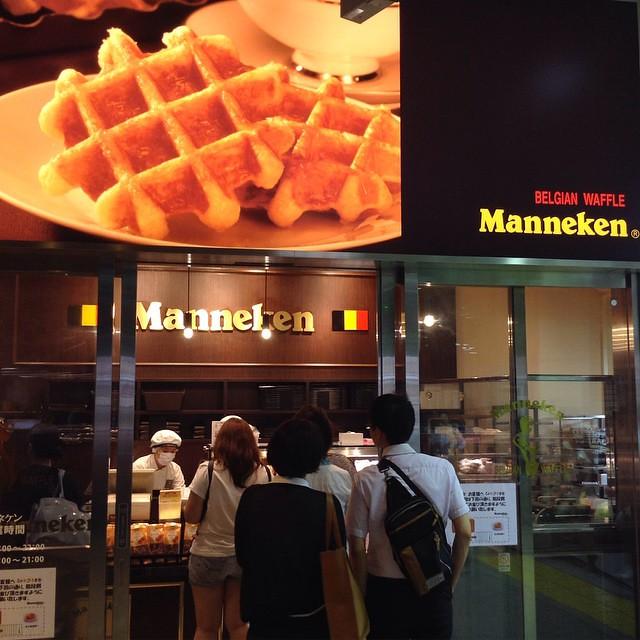 Awesome Belgian Waffles in Shinjuku station   #igdaily #instagram #instagood #like #follow #l4l #tagforlikes #love #instadaily #instalove #instalike #igph #instagramph #instagramjp #igjp #東京 #日本 #japan #tokyo #travel #igersjp #foodstagram #waffles