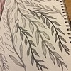 Just chilling with doodling leaves after a tiring day staining gate panels in the rather hot sun! #doodle #doodling #leaves #patterns #lines #draw #drawing #dailyart #dailydraw #instaart #art #design #inspiration #relaxing