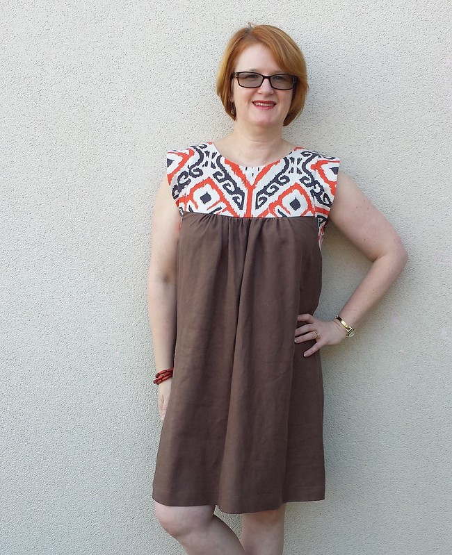 Tessuti Alice dress - printed linen from Darn Cheap Fabrics