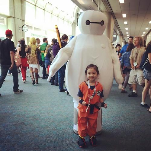 Goku x #baymax @breehive #happyandadi #mommyinlove #sdcc #sdcc2015 #comiccon #comiccon2015 #goku #songoku