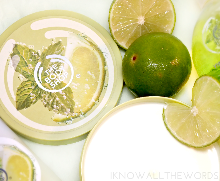 the body shop virgin lime mojito body splash, sorbet, and body butter (2)