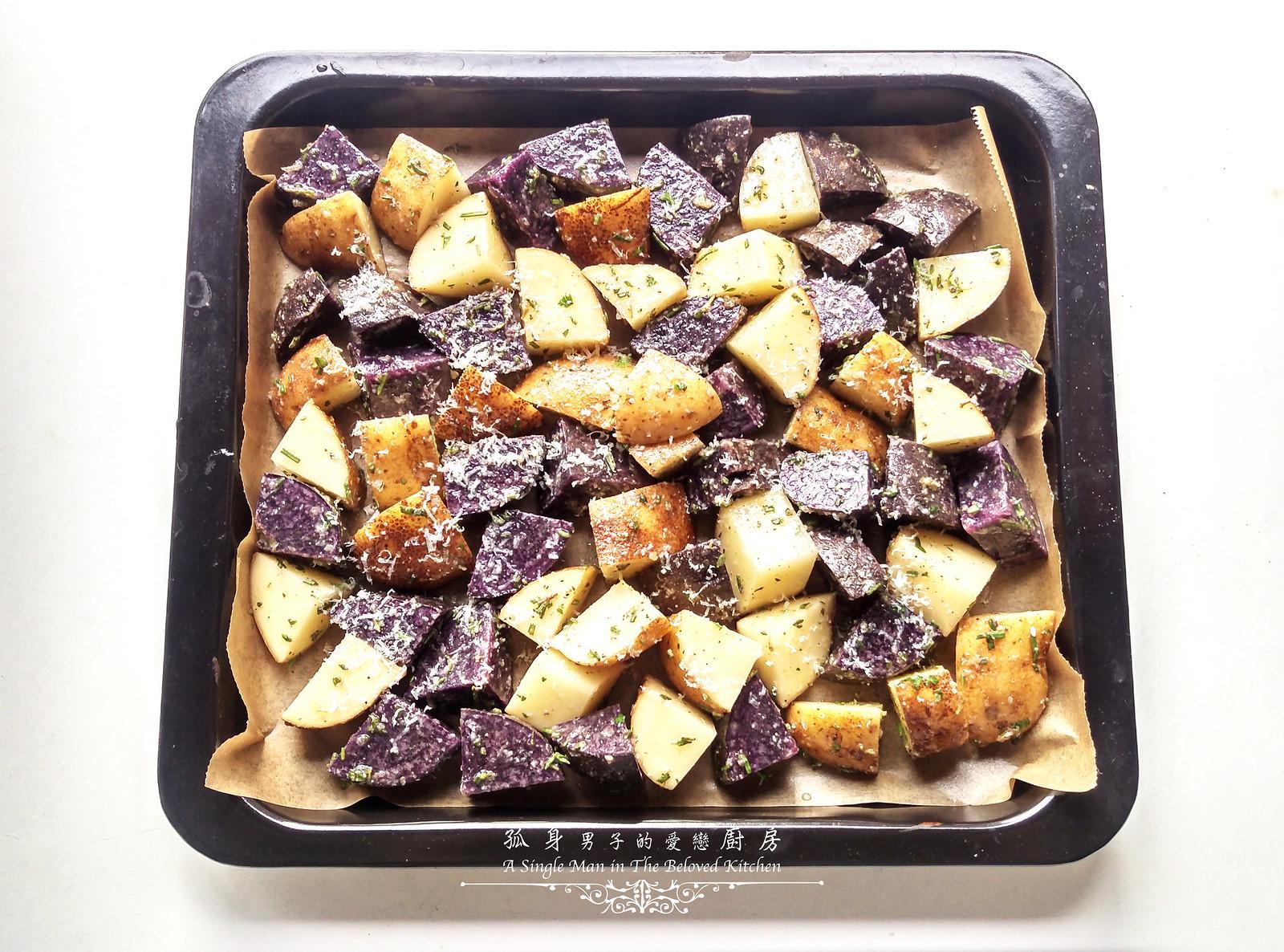 孤身廚房-香草烤雙色馬鈴薯──好吃又簡單的烤箱料理8
