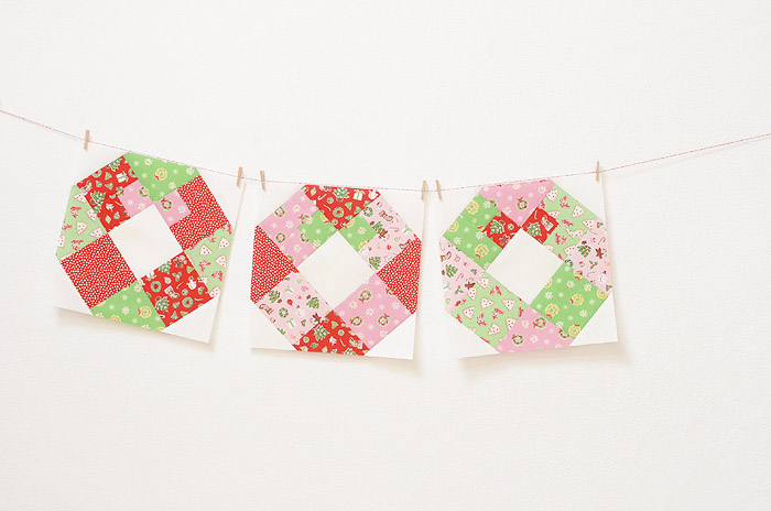 Little Joys Quilt Along - Wreath Block