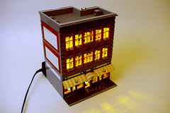 First lit building! - Modular LEGO Supermarket