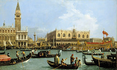Canaletto – The Royal Collection RCIN 404417. Venice The Bacino di S. Marco on Ascension Day (c. 1733-1734)