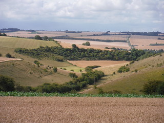 Bishopstone from the top of the Down