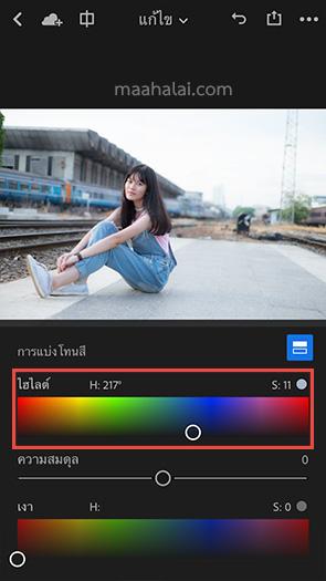 Lightroom Blue Bright Tone iPhone