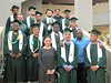 UH Manoa football graduates celebrated at the fall 2016 commencement ceremony on December 17 at the Stan Sheriff Center.