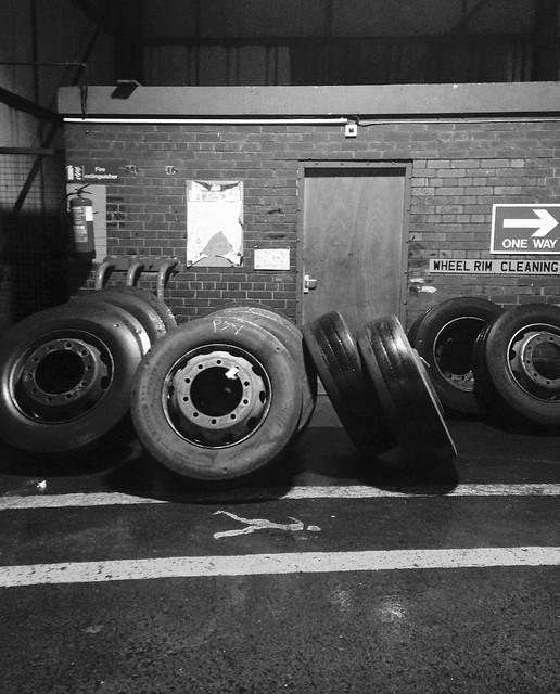 Bus depot tyre bay