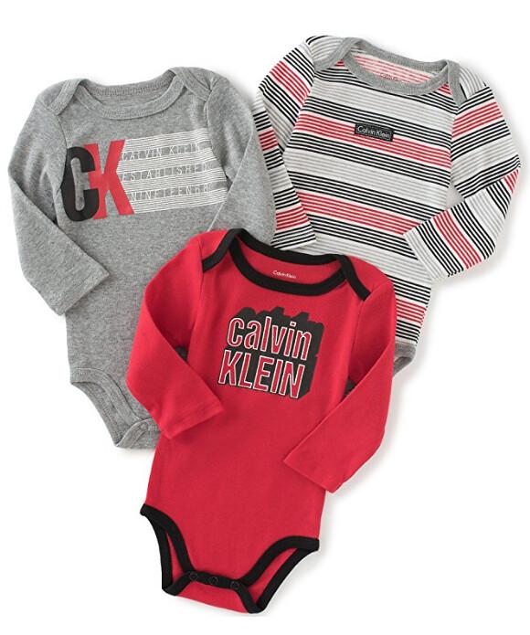 Calvin Klein Assorted Red Gray Ropa Bebe Niños 0-9 Meses a4729858076e