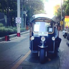 The famous Tuk Tuk! #travel #bangkok #thailand #tuktuk #transportation #adventuresofhellovanya #nerdfriendsasiantour2015