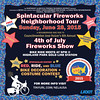 Spintacular Fireworks Neighborhood Tour