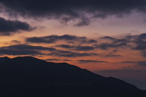 sunset clouds landscape greece agrafa greekmountains greeksky