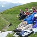 Lunching with Alpine Choughs (Kerrie Porteous)