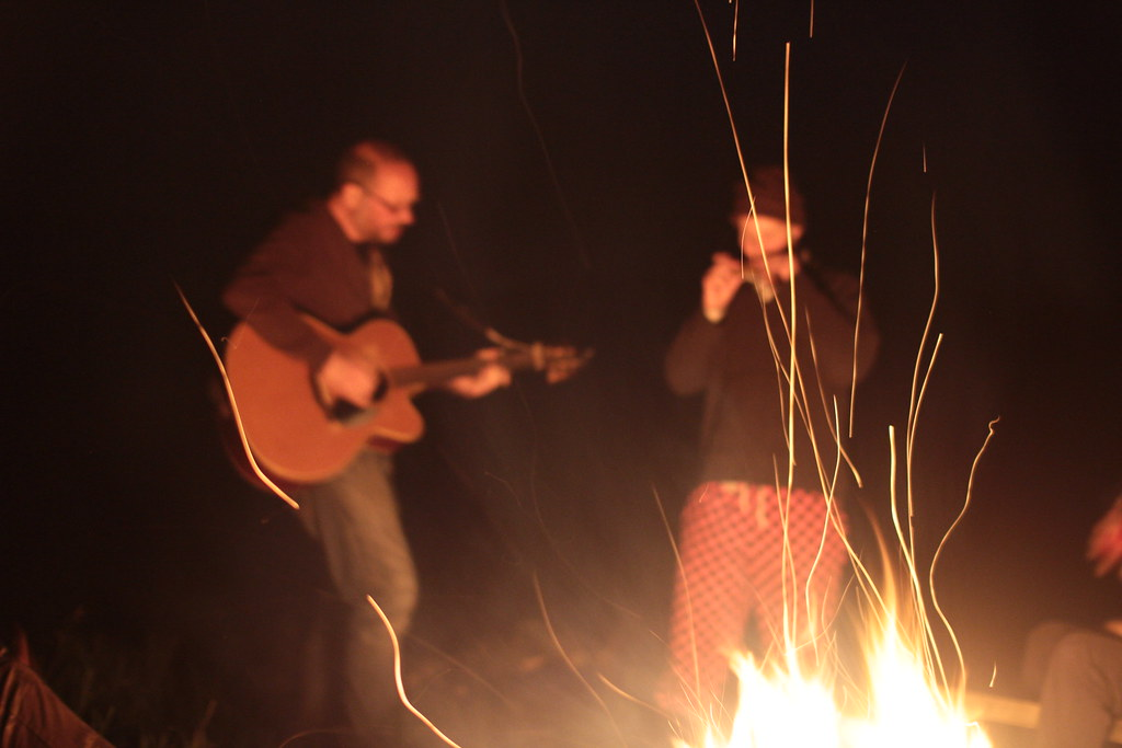 jamming by the fire
