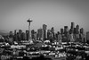 Seattle Skyline B&W