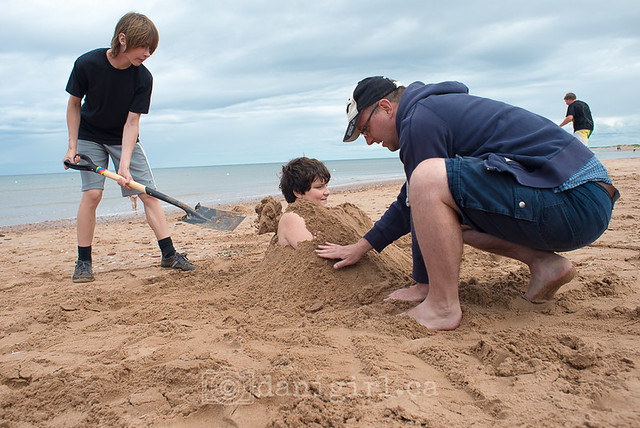 Fun at Brackley Beach, PEI National Park