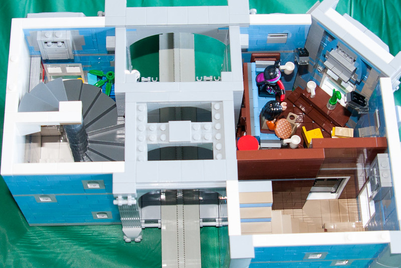 Moc House With Monorail Passthrough Lego Town