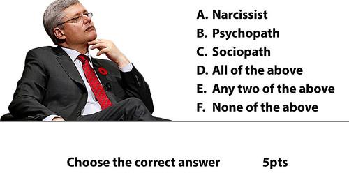 Stephen Harper narcissit anti Harper