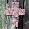 Ancient Anasazi Indian Pottery Shards Mosaic Cross
