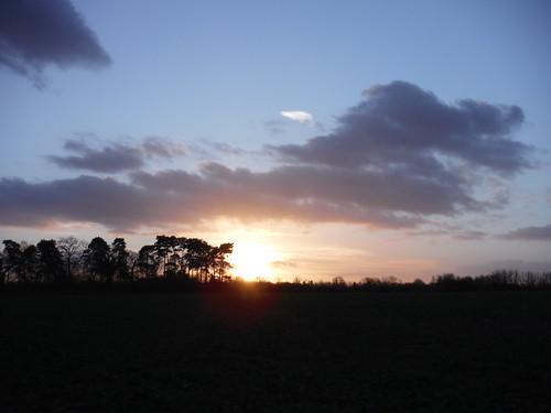 Sun Setting over Brimpton