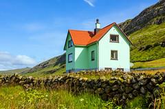 A house in Í Trøðum at Sandur in Sandoy, Froe Islands