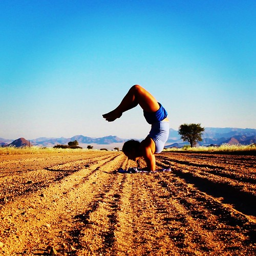 More yoga in the middle of the road...because why not?