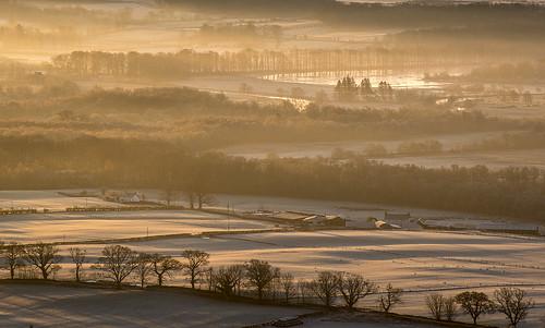 sunrise river landscape dawn scotland farmland fields strathendrick endrickwater nikonafsvr70300f4556gifed nikond800