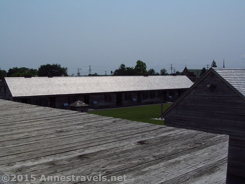 Looking down on Fort Stanwix from one of the walls (steps lead up to viewpoints on all four corners), Rome, New York