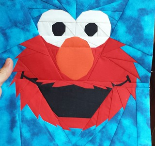 Elmo!! My First Fandom in stitches block.