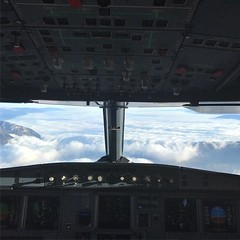 Sat on the jump seat into Geneva today. Bit of a different perspective to usual