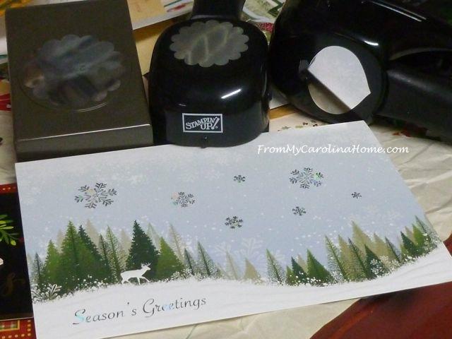 Christmas Card Crafting ~ From My Carolina Home