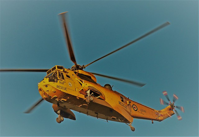 XZ586 WESTLAND SEA KING RAF SAR 202 SQUADRON NEWCASTLE AIRPORT
