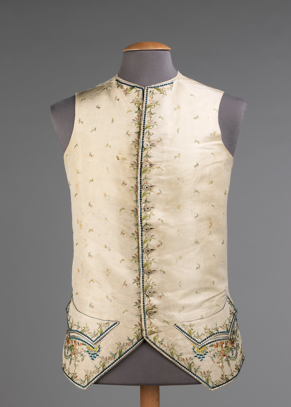 1760. French. silk, cotton. metmuseum