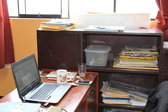 My desk at the EPAF office