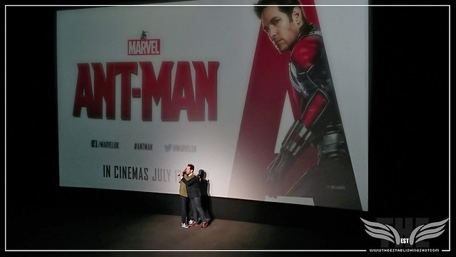 The Establishing Shot: PEYTON REED & PAUL RUDD HUG AT A SCREENING OF MARVEL'S ANT-MAN IN LONDON