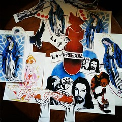 A pack a large stickers from france