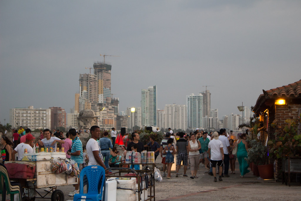 oluen myyjät, Cartagena, Kolumbia