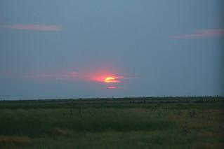 Sunset over the Kansas/Colorado border.