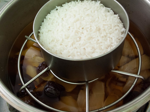 041 2-in-1 : steamed rice and radish, red date soup